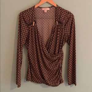 Michael Kors Wrapped Blouse